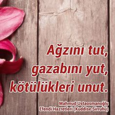Ağzını tut.  #mahmudustaosmanoğlu #mahmutefenzihz #sözler #islam #ismailağa #ilmisuffa #sabır #kin #nefret #intikam