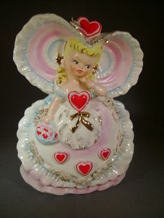 This is a great addition to a Valentine planter collection. Funny Valentine, Vintage Valentines, Vintage Holiday, Be My Valentine, Vintage Pottery, Vintage Ceramic, Pottery Art, Beautiful Christmas Decorations, Valentine Decorations