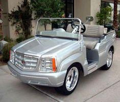 Cool golf cart.