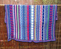 Atelier 'De Kleine Haven': Crochet Along 2014 as-we-go stripey blanket