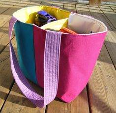 Divided Tote Tutorial... - Our Busy Little Bunch