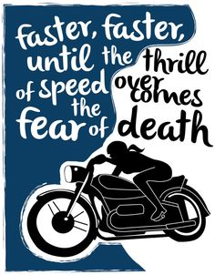 Faster, Faster Motorcycle Hunter S. Thompson 11 x 14 Print on Etsy, $28.00