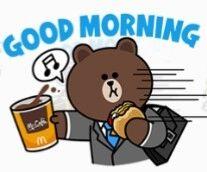 Good Morning Cartoon, Good Morning Good Night, Cute Couple Cartoon, Cute Love Cartoons, Cony Brown, Brown Bear, Line Friends, Friends In Love, Bunny And Bear