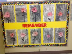 Remembrance Day bulletin board