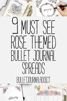 Draw Rose Bullet Journal Rose Doodles and How To Draw Roses - Bullet Journal Examples of Rose Themes - 9 Must See Rose Themed Bullet Journal Spreads Bullet Journal Cheat Sheet, Bullet Journal Examples, Bullet Journal Monthly Spread, Bullet Journal 2019, Bullet Journal Themes, Bullet Journal Layout, Bullet Journal Inspiration, Journal Ideas, Cool Drawings
