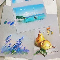 Мастер-класс Елены Таткиной «Пастель для начинающих» | Школа рисования для взрослых Вероники Калачёвой — Kalachevaschool | Обучение вживую в Москве и онлайн по всему миру