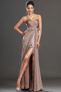 Comprar vestidos de fiesta/ noche en gasa de falta de triángulo invertido de abalorio de manzana, Modao.es te ofrece Vestidos de Noche más adecuado