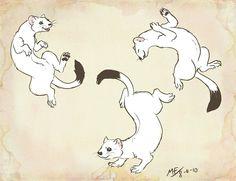 Dancing Ermines by ~Moody-Ferret on deviantART