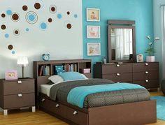 Combinación turquesa y marrón