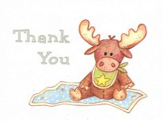 Handmade Cute Baby Shower Thank You Baby Moose by SJ