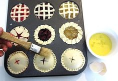 Miniature Pies.  So many ideas and EASY steps.