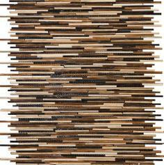 Bleeker Street Tiffany Blend linear brown glass tile  http://www.uniquebuildingconcepts.com/locations.html