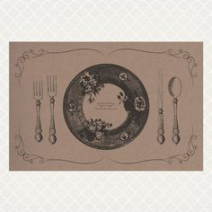 Vintage Rose Plate Paper Placemats by HarperandDaisy on Etsy, $26.00
