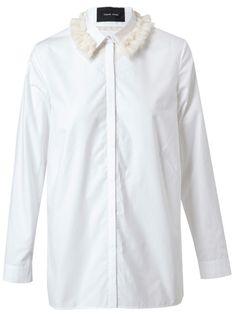 SIMONE ROCHA Cotton And Tufted Wool Shirt