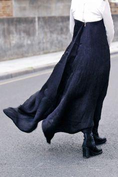 Backside of dress by Rick Owens (2011). via the rosenrot