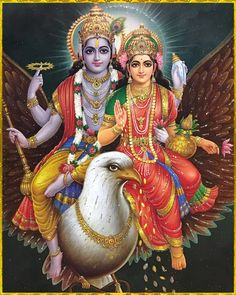 "☀ SHRI LAKSHMI NARAYANA ॐ ☀ ""The human form of life affords one a chance to return home, back to Godhead. Therefore every living entity, especially in the human form of life, must engage in devotional service to the lotus feet of Lord Vishnu. Lord Murugan Wallpapers, Lord Krishna Wallpapers, Lord Krishna Images, Radha Krishna Pictures, Krishna Radha, Indiana, Shiva Shankar, Lakshmi Images, Lord Shiva Family"