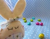 Bunny rabbit with tooth fairy pocket...Sweet little Betsy    Perfect for Easter  READY TO SHIP