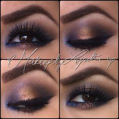 Iridescent purple with brown
