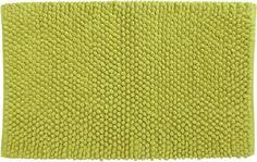 cirrus chartreuse bath rug in bath linens | CB2