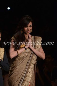 Vikram Phadnis. LFW 2013 love the bangle, the work and the fabric of the saree