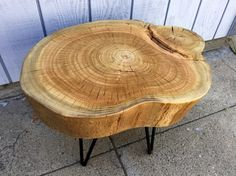 Reclaimed Eucalyptus Stump Accent Table - Ambrose Woodworks