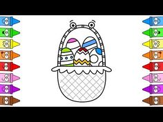 How To Draw Easter Basket | Easter Basket Ideas | Easter Coloring Pages - YouTube