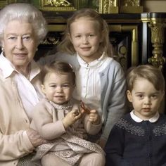 Queen's 90th Birthday - Charlotte is the spitting image of her Great-Grandmother Queen Elizabeth!!
