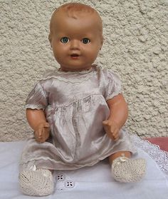 VINTAGE 1930S PLASTEX COMPOSITION BABY DOLL (10/28/2012)