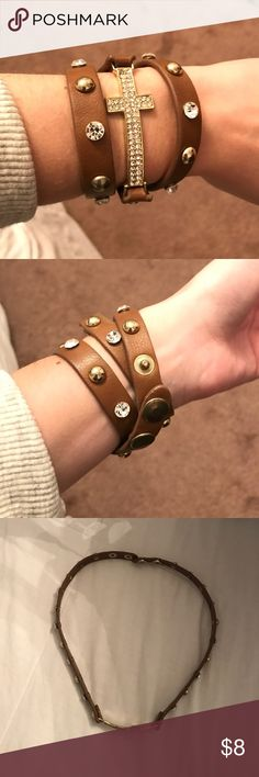 B R A C E L E T Brown Faux Leather Wrap Bracelet | Only wore a few times | Great condition | smoke free, clean home! Jewelry Bracelets