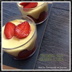 Verrines tiramisu aux fraises thermomix ou autres robots, facile – Avec le thermomix et le cookeo de zazoun
