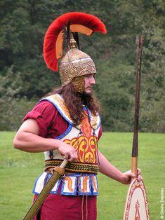 A Celtic warrior reenactor