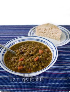 """Try this delicious and easy to make vegan lentil soup! I used rice vinegar not wine, marinara sauce and not sun dried Tom, and no """"sauce,"""" used home made veg broth powder too."""
