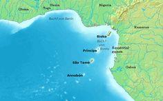 sao tome | Karte in voller Grösse anzeigen: Karte von São Tomé und Príncipe ...