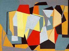 """Richard Mortensen (1910 -1993, Denmark) """"Garches-Suresnes"""", 1947"""