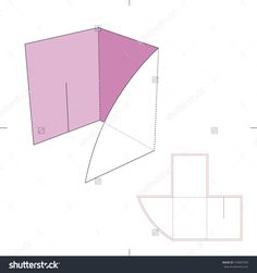 Folder With Die Cut Layout Stock Vector Illustration 193887599 : Shutterstock