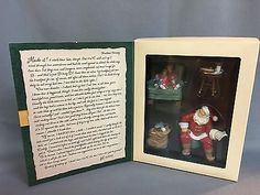 Santa-039-s-Big-Night-2002-Hallmark-Ornament-Set-4-Piece