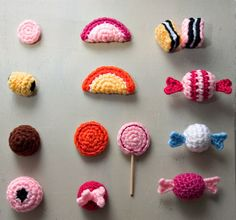 crocheted candy