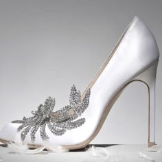 Manolo blahnik swan pumps...so in love with these. But are they too white to wear with my ivory dress???