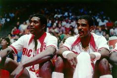 Hakeem Olajuwon & Ralph Sampson.    For all the latest Houston Rockets news and updates, visit www.rockets.com.