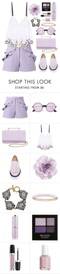 """Lavande Couleur"" by shangalairina ❤ liked on Polyvore featuring Elie Saab, Le Specs, M2Malletier, See by Chloé, MSGM, Cara, Marc by Marc Jacobs, Thomas Sabo, Chanel and Revlon"