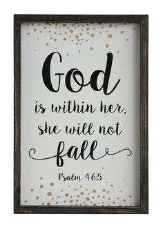 Inspirational 'God Is Within Her' Wall Decor