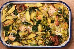 Pasta Salad, Potato Salad, Potatoes, Chicken, Ethnic Recipes, Food, Dish, Dry White Wine, Browning