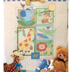Dimensions Baby Hugs Savannah Quilt Stamped Cross Stitch Kit
