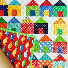 Mini Dwell Quilt, House quilt