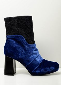 Amelie Pichard - NANCY VELOURS BLEU / BLUE VELVET & LUREX