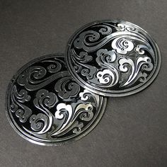 Two (2) Ocean Mandala Shield Norse Shoulder Brooches. Historical Reenactment Jewelry by Gilliauna. $20.00, via Etsy.
