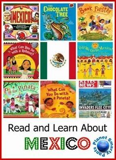 Mexico books and activities for kids - from preschool age to upper elementary school. Suitable for a Mexico unit study or for celebrating Cinqo de Mayo, Hispanic heritage, or Day of the Dead with kids. Mexico For Kids, Mexico Crafts, Around The World Theme, Hispanic Heritage, Mexican Heritage, Elementary Schools, Upper Elementary, Elementary Spanish, Preschool Age