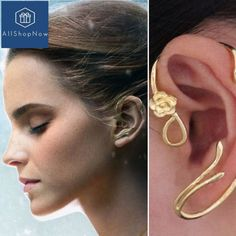 """Gefällt 119 Mal, 2 Kommentare - AllShopNow (@allshopnow) auf Instagram: """"Beauty and the Beast Earrings Ear Cuff Belle Cosplay Jewelry Gold Plated Rose FREE SHIPPING…"""""""