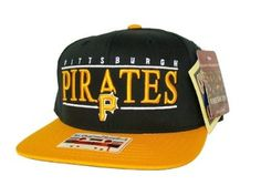timeless design b5148 86863 PITTSBURGH PIRATES Script Retro Old School Snapback Hat - MLB Cap - 2 Tone  Black Gold  Amazon.co.uk  Sports   Outdoors