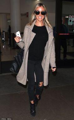 Stunner: Kristin Cavallari, 31, arrived in Los Angeles on Wednesday...